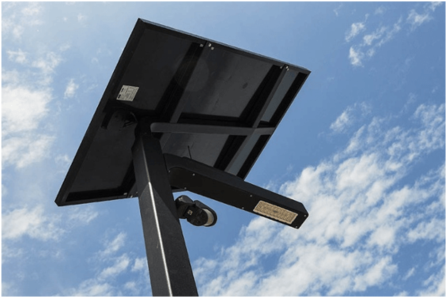 solar street lights design and components solar panels
